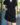 Robe saharienne noire manches courtes-1